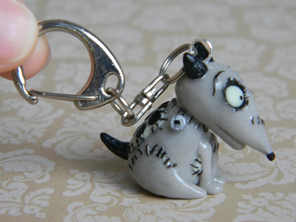 Sparky Frankenweenie Keychain-Polymer Clay by ThePetiteShop