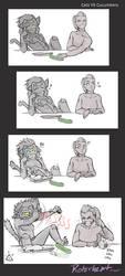 Catra vs cucumbers by Rotorheart