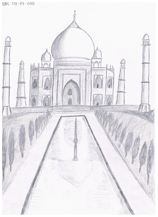 Taj mahal by willem the drawer