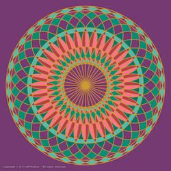 Festival Wheel Mandala by jeffdufour