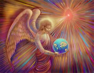 Angel Holding The World