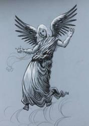 Angel Pencil Drawing