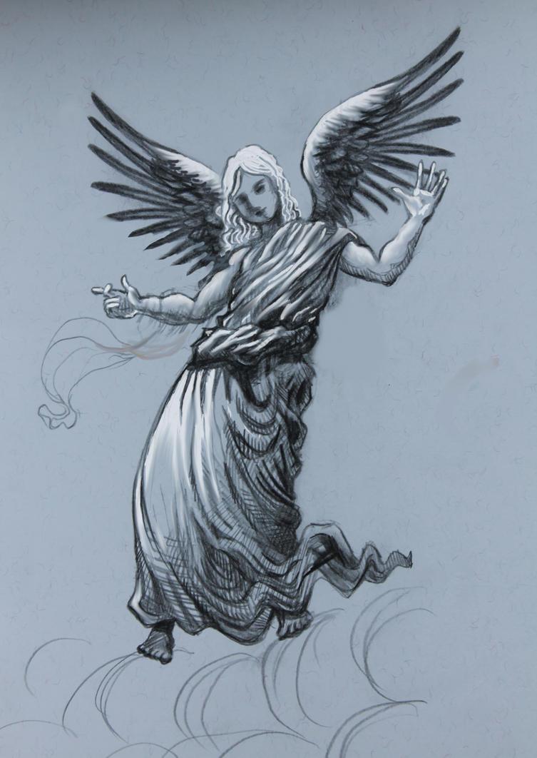 angel pencil drawing by divinelightangels on deviantart