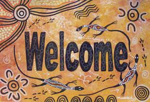Welcome Aboriginal Art by Mundara Koorang by NovyNovy