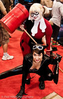Harley and Catwoman by starrymoon