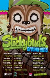 Stickybuds Spring 2015 Tour Poster