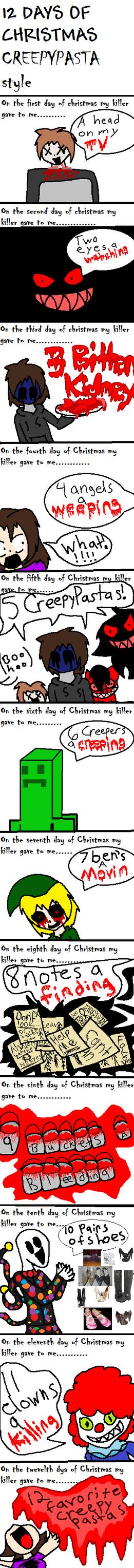 12 days of Christmas Creepypasta style by shadowlover40 on ...