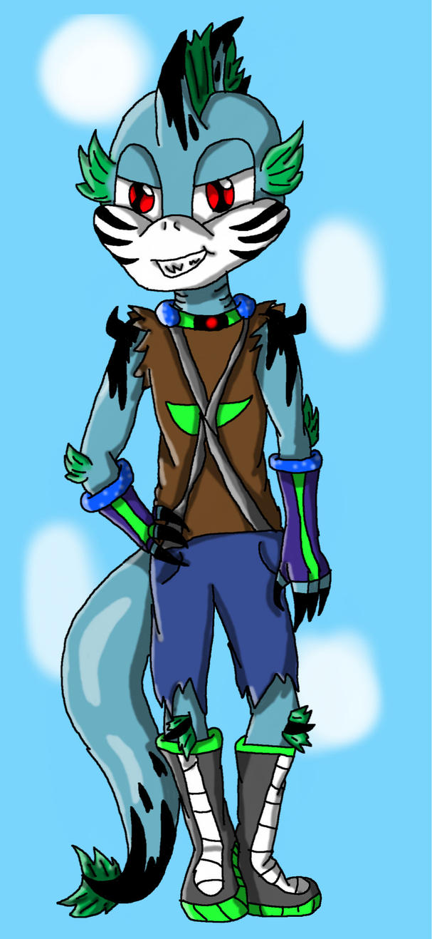 Tony the fish lizard colored by shadowlover40 on deviantart for 1041 the fish