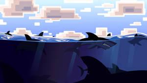 Shark Eyes Gaming Banner by DrewLyons