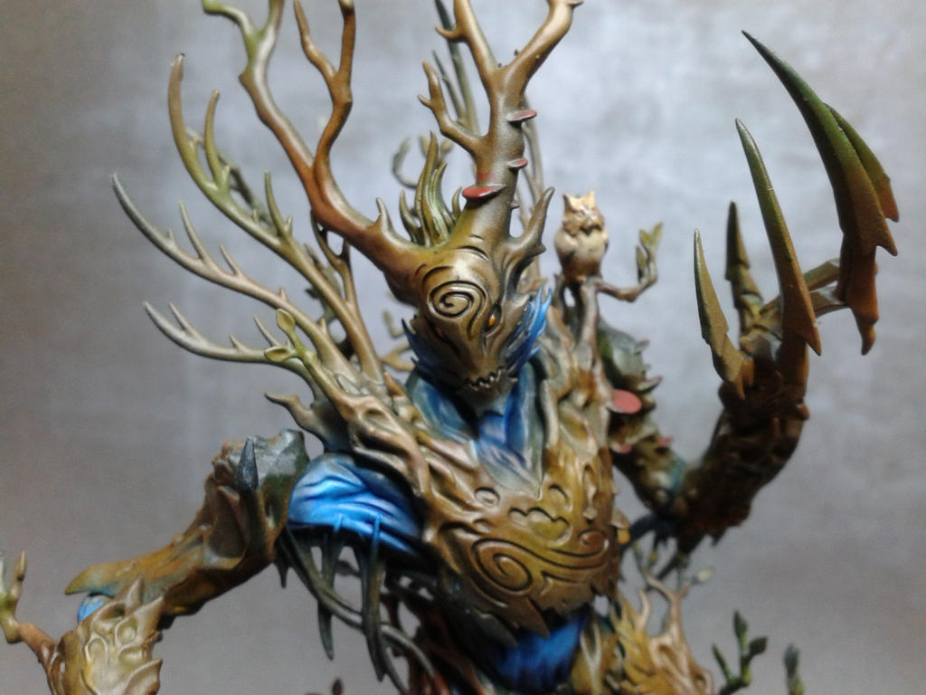 Wood elves Treeman close-up by DemoniacK