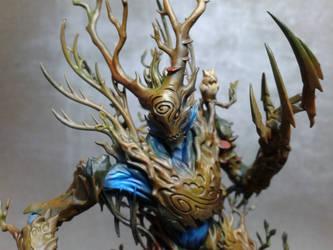 Wood elves Treeman close-up