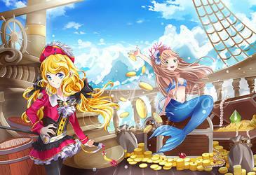 Mermaid pirate's chasing dream