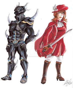 Dark Knight and Red Mage