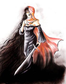 Saffron clad Lady