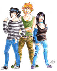 Comic project, main characters
