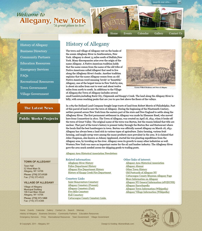 Allegany.org Mockup