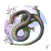 Sakura dragon by Ren-ail