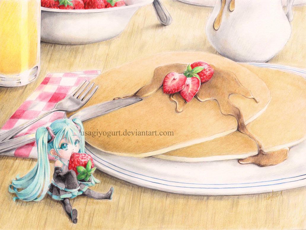 Strawberry Pancakes by UsagiYogurt