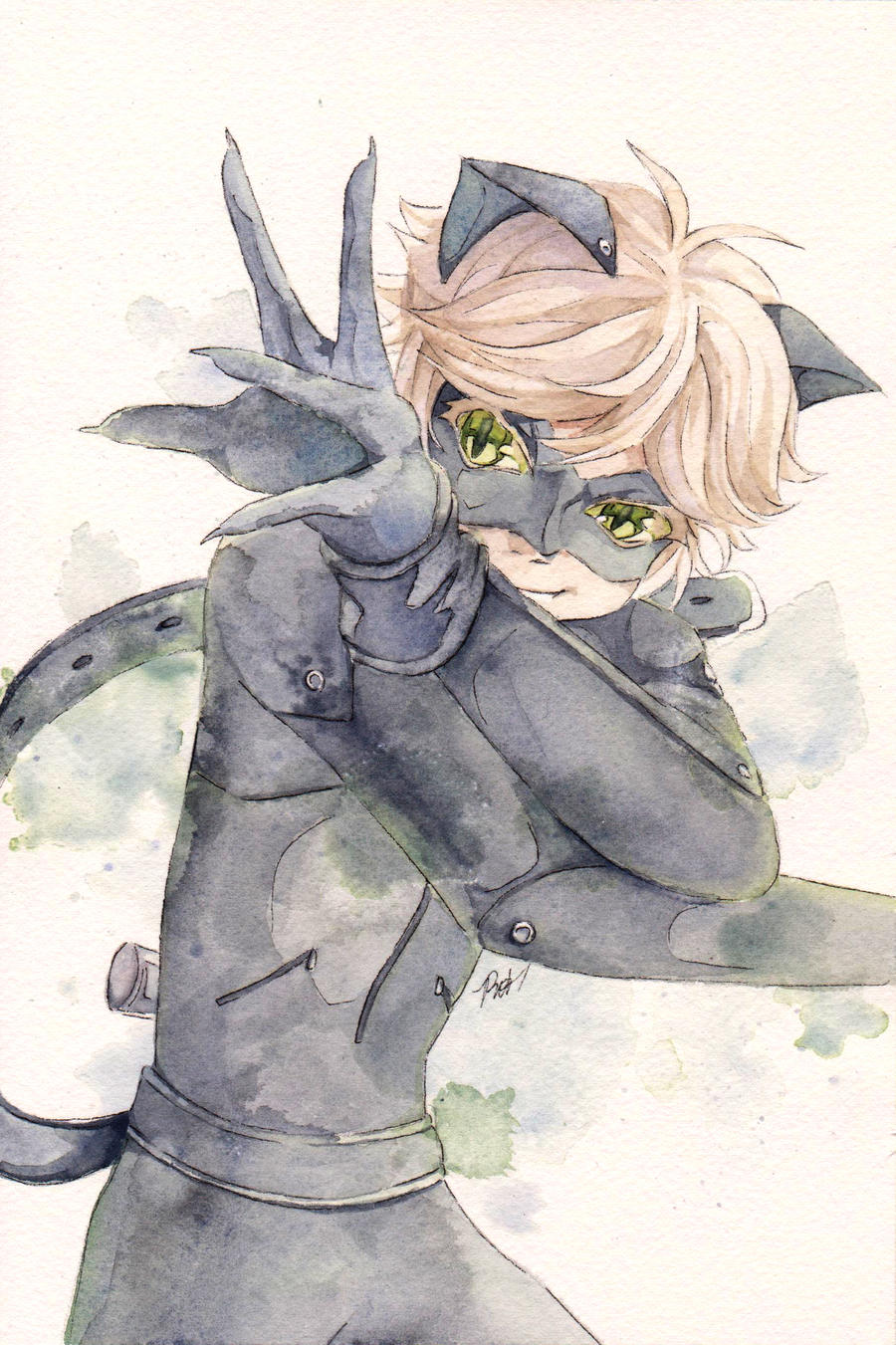 It's just a picture of Unusual Chat Noir Drawing