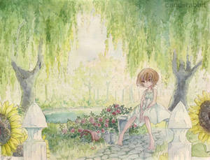 In the Garden by UsagiYogurt