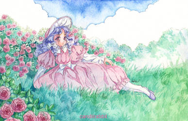 Lounging Amongst Roses