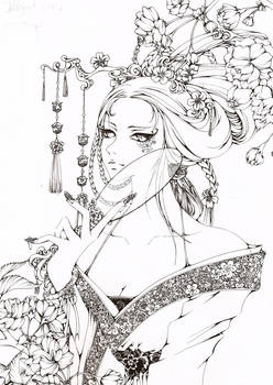 The Spring_lineart