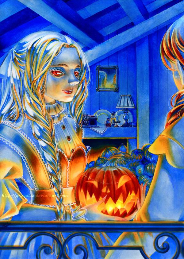 Do you want my pumpkin ? by Grayalzz