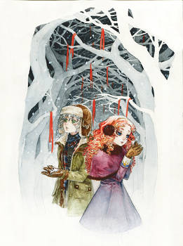 W:: Just you and me in this snowy world