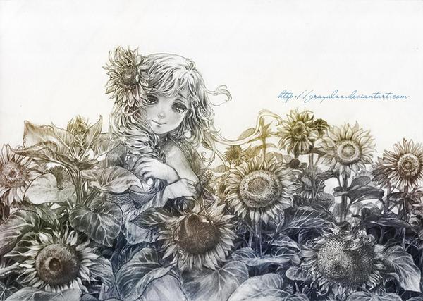 C:: Sunflowers by Grayalzz