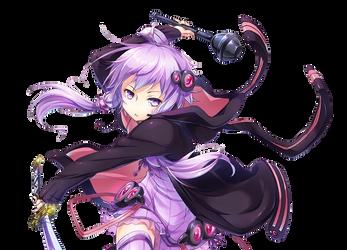 Anime Render #29 - Yuzuki Yukari #5 by ditzydaffy