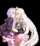 Anime Render #27- IA and Yuzuki Yukari (Vocaloids)
