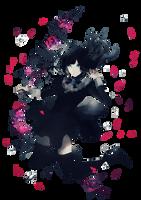 Underwater with Flowers (Render) by ditzydaffy