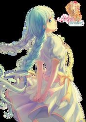 Girl with Plaited Blue Hair (Anime Render)
