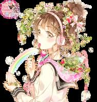 Strawberry Girl (by Starpri) Render by ditzydaffy