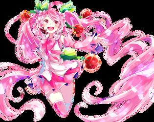 Hatsune Miku Render #4 by ditzydaffy