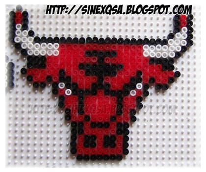 Hama bead Chicago Bulls