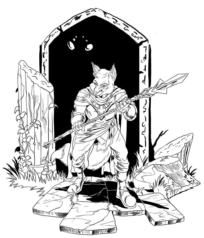 Patreon Reward - Kyrsaku Exploring the Ruins by JTF3