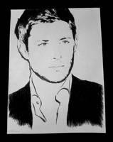 Jensen Ackles -black-white- by CARstiel