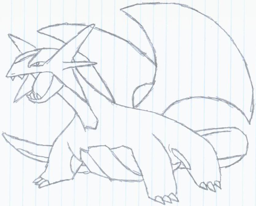 flygon coloring pages - photo#13