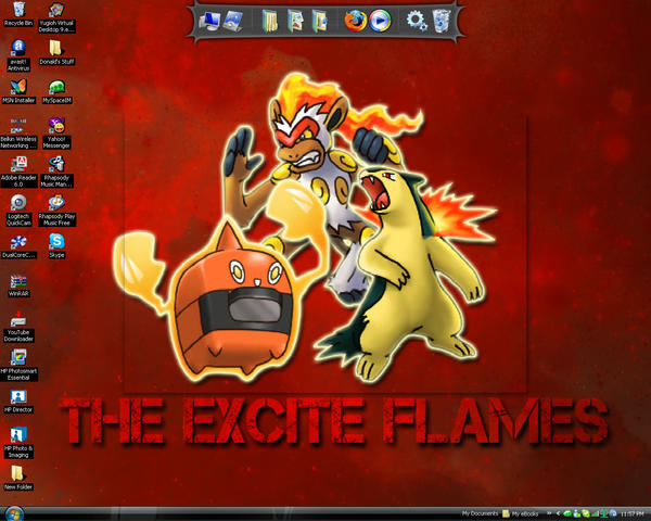 The Excite Flames Desktop by revolutionX1600