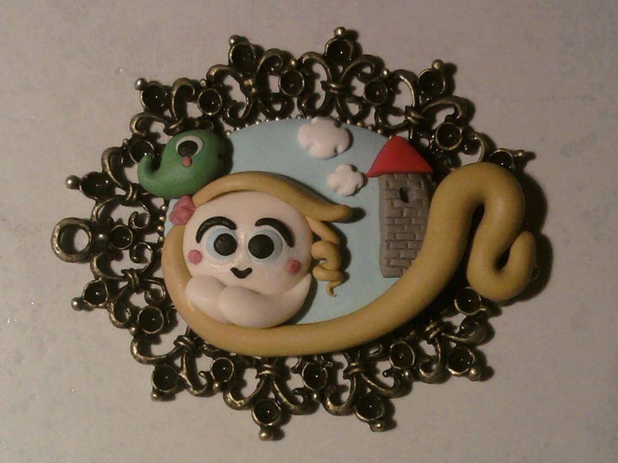 Cammeo with Rapunzel fimo by bimbalove81