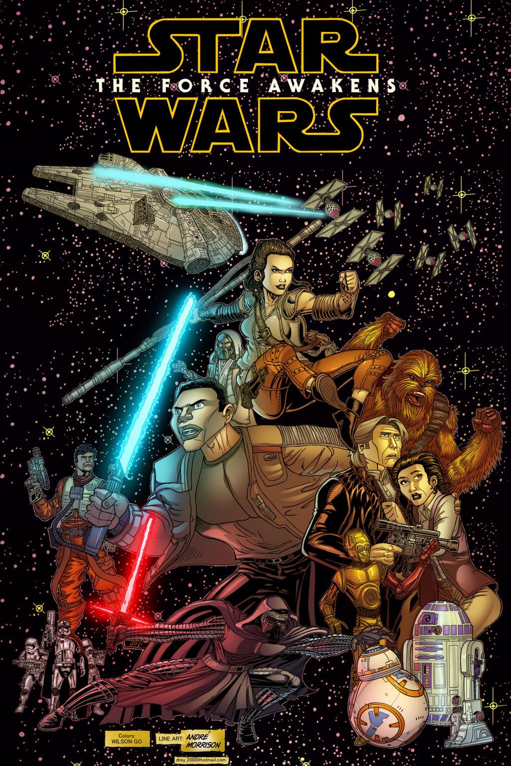 Starwars Force Awakens by Opernix