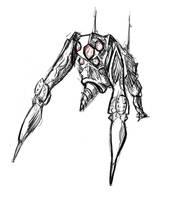 Triped Drillbot by LeetZero