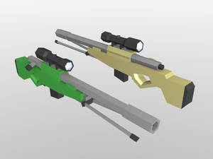 Low Poly untitled sniper