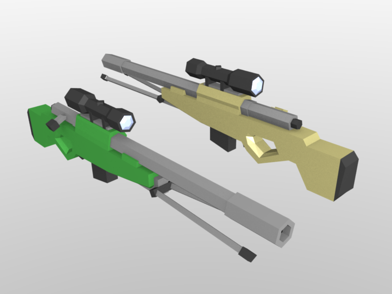 Low Poly untitled sniper by LeetZero