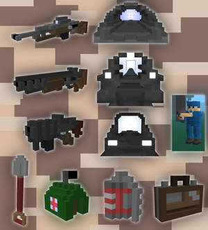 Ace of Spades Voxel set [NOT AVAILABLE}