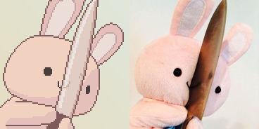 Bunny with a knife Steam Avatar
