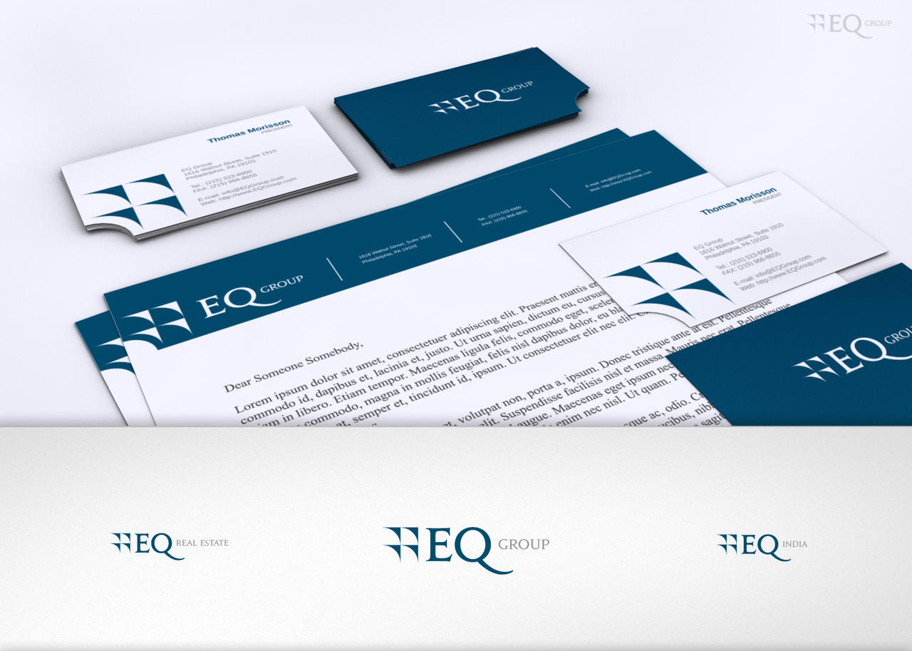 EQ Group Logo and stationary by Shewa06