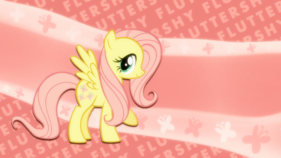 Fluttershy wallpaper I made :) by poniesfromheaven