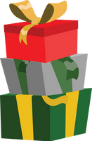 Pony Christmas presents credit free vector by poniesfromheaven